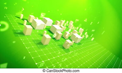 """""""Rising cubic indexes in the salad backdrop"""" - """"An arty 3d..."""