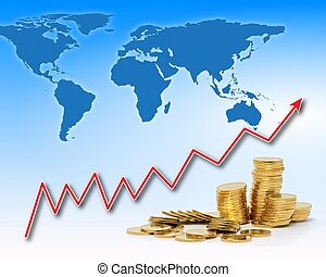 Rising gold value in the world