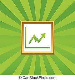 Rising graphic picture icon