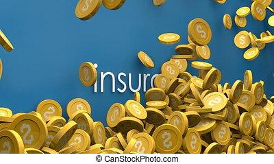 Rising insurance cost animation.