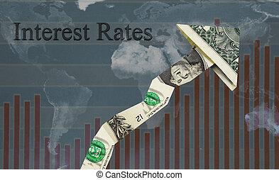 Rising interest rates - Upward pointing Interest Rates...