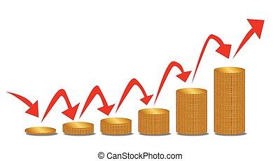 Rising Money Steps