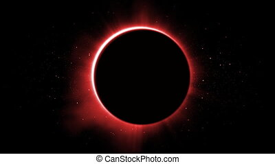 eclipse of the red sun
