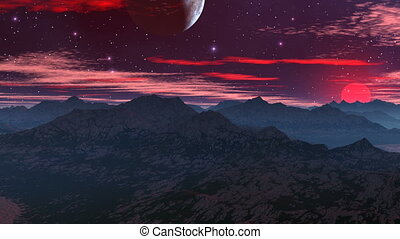 Rising of the Red Moon