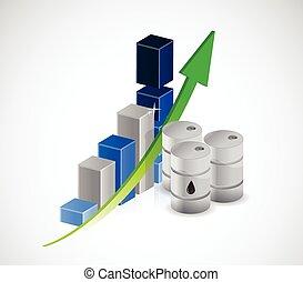 rising oil prices illustration design