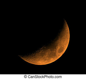 Moon - Rising orange Moon