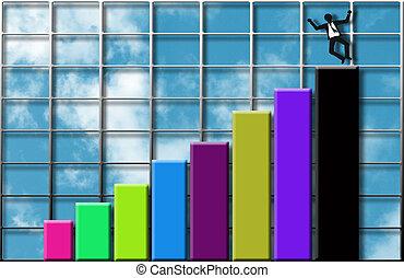 Rising profits - Image depicting financial success