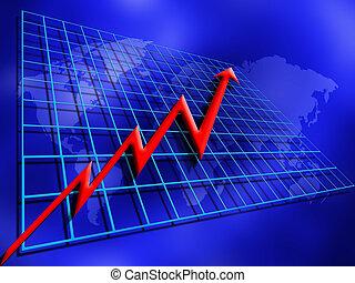 Rising profits - Conceptual image depicting rising profits