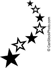 Rising stars - full and outlined