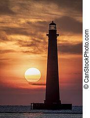 Rising Sun at Morris Island Lighthouse