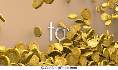 Rising tax 3d animation.