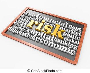 Risk 3d word concept