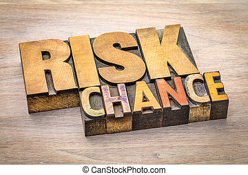 risk and chance word abstract
