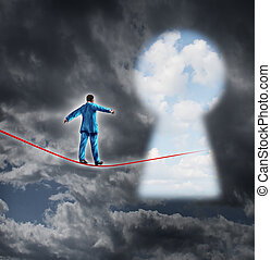 Risk And Opportunity - Risk and opportunity business concept...