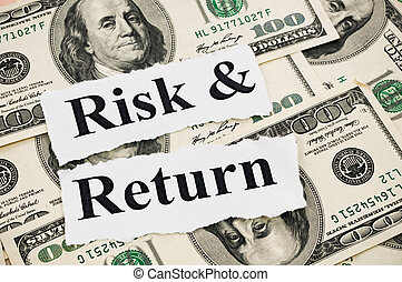 Risk and return words on hundreds US notes