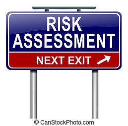 Risk assessment concept. - Illustration depicting a roadsign...