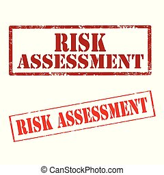 Risk Assessment-stamps - Set of stamps with text Risk...