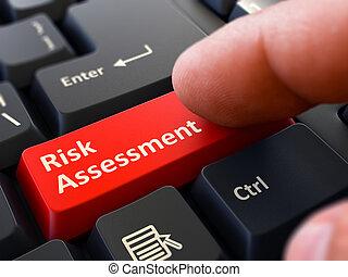 Risk Assessment - Written on Red Keyboard Key.