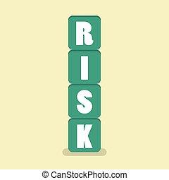 Risk blocks flat style