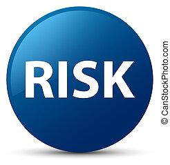 Risk blue round button