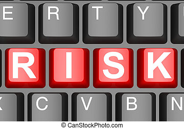Risk button on modern computer keyboard