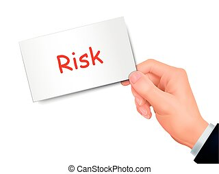 risk card in hand