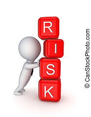 Risk concept. Isolated on white background.3d rendered.