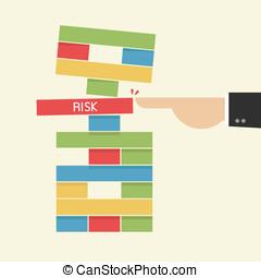 risk., concept., tomar, negócio