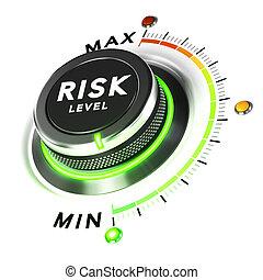 Risk Control, Finance Concept - 3D illustration of a risk...