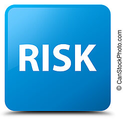 Risk cyan blue square button