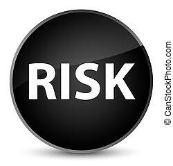 Risk elegant black round button