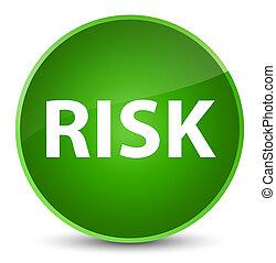 Risk elegant green round button