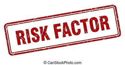 risk factor stamp. square grunge sign on white background