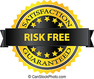 Risk Free Badge - Risk Free Satisfaction Guaranteed Badge...