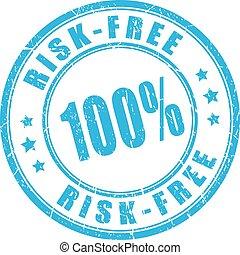 Risk free guarantee stamp