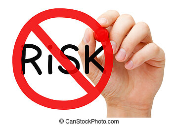 Risk Free Prohibition Sign Concept - Hand drawing Risk ...