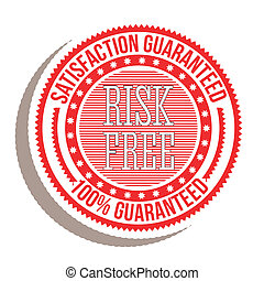 Risk free seal over white background vector illustration