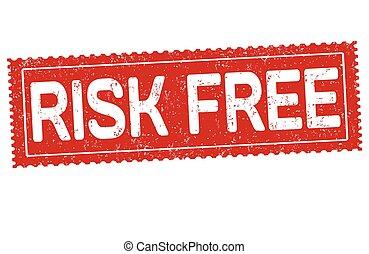 Risk free sign or stamp - Risk free grunge rubber stamp on...