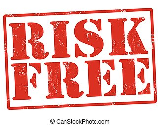 Risk free stamp - Risk free grunge rubber stamp on white,...