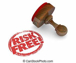 Risk Free Stamp Safe Secure Choice Words 3d Illustration