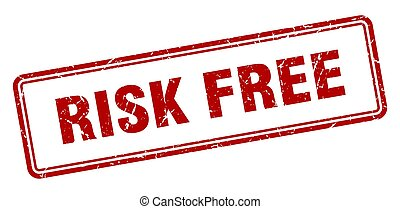 risk free stamp. square grunge sign on white background