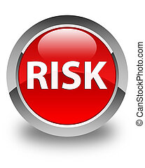 Risk glossy red round button