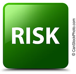Risk green square button
