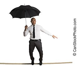 Risk in business - Concept of risk in business with...