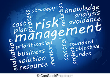 Risk Management - Business concept: Risk management in word ...