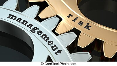 Risk Management gearwheels, 3D animation video