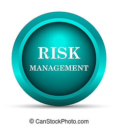 Risk management icon. Internet button on white background.