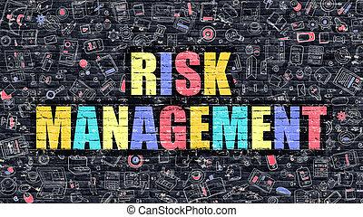 Risk Management in Multicolor. Doodle Design.