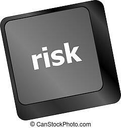 risk management keyboard key showing business insurance concept