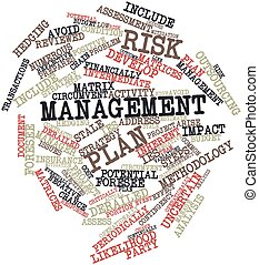 Risk management plan - Abstract word cloud for Risk...